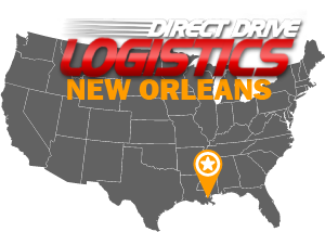 New Orleans Trucking Brokerage Service Office Logo Map