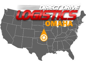 Omaha Shipping Consulting Firm Logo Map