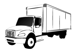 Expedited freight straight truck